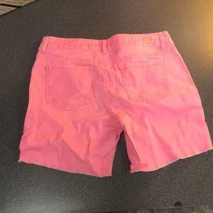 lei Shorts - L.E.I. Neon Pink Jean Shorts